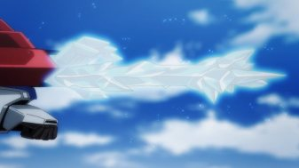 Ep 3 original: Sara and Tia's sword is bright white.